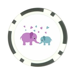 Elephant love Poker Chip Card Guard