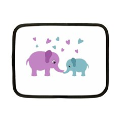 Elephant love Netbook Case (Small)