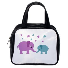 Elephant love Classic Handbags (One Side)
