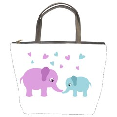 Elephant love Bucket Bags