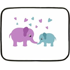 Elephant love Fleece Blanket (Mini)