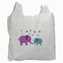 Elephant love Recycle Bag (One Side)