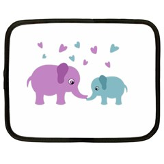 Elephant love Netbook Case (XL)