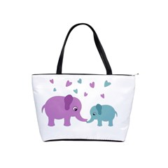 Elephant love Shoulder Handbags