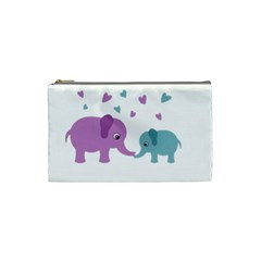 Elephant love Cosmetic Bag (Small)