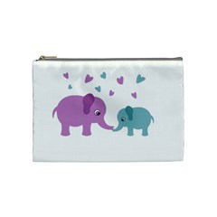Elephant love Cosmetic Bag (Medium)