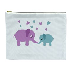 Elephant love Cosmetic Bag (XL)