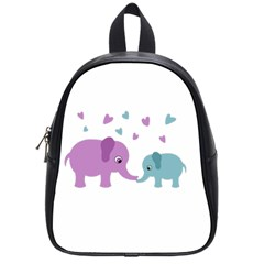 Elephant love School Bags (Small)