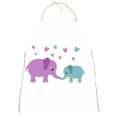 Elephant love Full Print Aprons