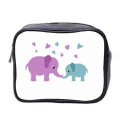 Elephant love Mini Toiletries Bag 2-Side