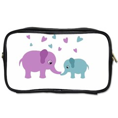 Elephant love Toiletries Bags 2-Side