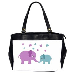 Elephant love Office Handbags (2 Sides)