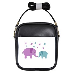 Elephant love Girls Sling Bags
