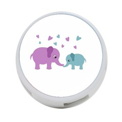 Elephant love 4-Port USB Hub (One Side)