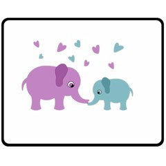 Elephant love Fleece Blanket (Medium)