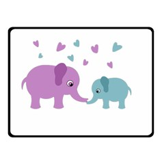 Elephant love Fleece Blanket (Small)
