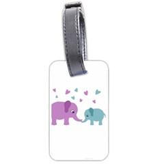 Elephant love Luggage Tags (One Side)