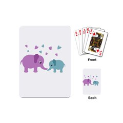 Elephant love Playing Cards (Mini)