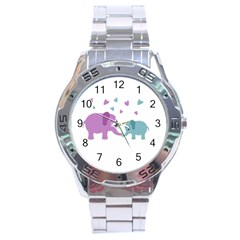Elephant love Stainless Steel Analogue Watch