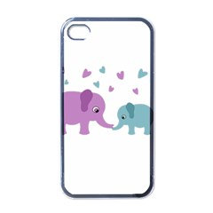 Elephant love Apple iPhone 4 Case (Black)
