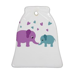Elephant love Bell Ornament (Two Sides)