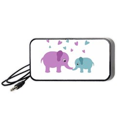 Elephant love Portable Speaker (Black)