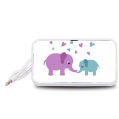 Elephant love Portable Speaker (White)