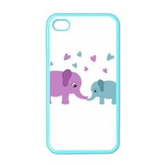 Elephant love Apple iPhone 4 Case (Color)