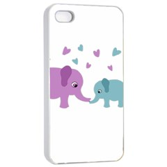 Elephant love Apple iPhone 4/4s Seamless Case (White)