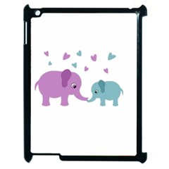 Elephant love Apple iPad 2 Case (Black)
