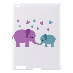 Elephant love Apple iPad 3/4 Hardshell Case (Compatible with Smart Cover)
