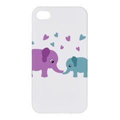 Elephant love Apple iPhone 4/4S Premium Hardshell Case