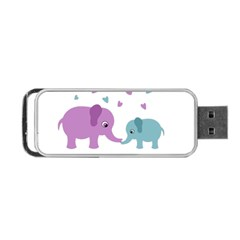 Elephant love Portable USB Flash (Two Sides)