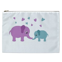 Elephant love Cosmetic Bag (XXL)