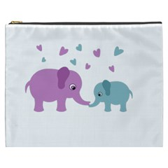 Elephant love Cosmetic Bag (XXXL)