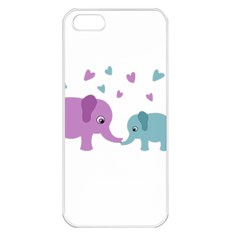 Elephant love Apple iPhone 5 Seamless Case (White)