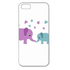 Elephant love Apple Seamless iPhone 5 Case (Clear)