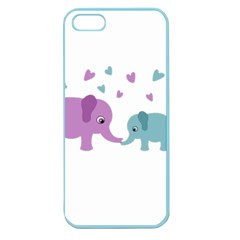 Elephant love Apple Seamless iPhone 5 Case (Color)