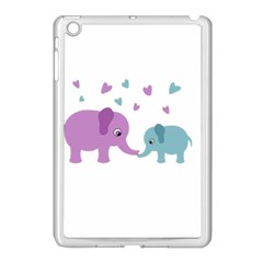 Elephant love Apple iPad Mini Case (White)