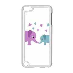 Elephant love Apple iPod Touch 5 Case (White)