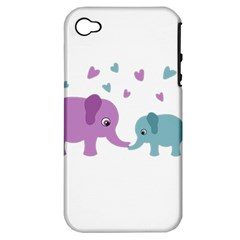 Elephant love Apple iPhone 4/4S Hardshell Case (PC+Silicone)