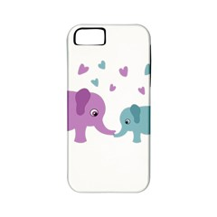 Elephant love Apple iPhone 5 Classic Hardshell Case (PC+Silicone)