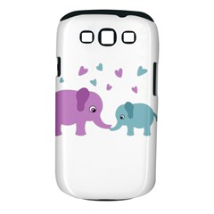 Elephant love Samsung Galaxy S III Classic Hardshell Case (PC+Silicone)