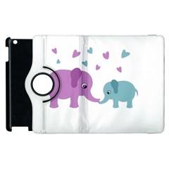 Elephant love Apple iPad 3/4 Flip 360 Case