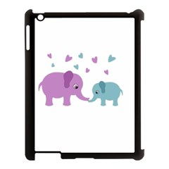 Elephant love Apple iPad 3/4 Case (Black)