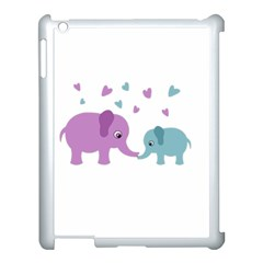 Elephant love Apple iPad 3/4 Case (White)