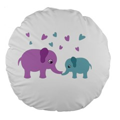 Elephant love Large 18  Premium Round Cushions