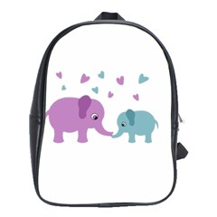 Elephant love School Bags (XL)
