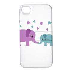 Elephant love Apple iPhone 4/4S Hardshell Case with Stand