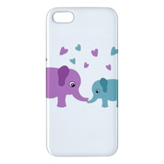 Elephant love Apple iPhone 5 Premium Hardshell Case